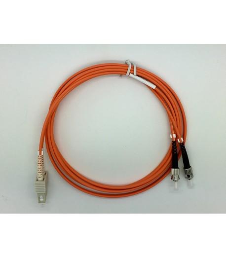 Bretella ottica MM duplex ST/SC 62,5/125
