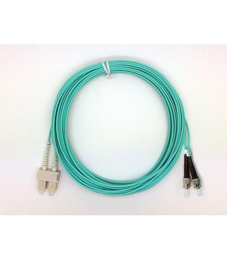 Bretella ottica ST/SC duplex MM 50/125 OM3