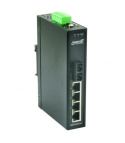 Switch industriale unmanaged 4 porte Fast Ethernet + 2 porte fibra