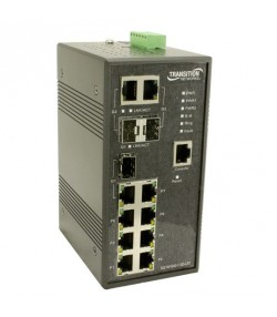 Switch industriale managed 7 porte 10/100 + 3 porte Gigabit SFP