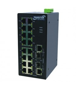 Switch industriale unmanaged 16 porte 10/100 + 2 porte Gigabit SFP