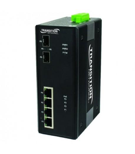 Switch ind. 6 + 2 porte Gigabit PoE