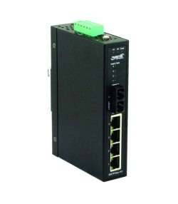 Switch ind. 4 + 1 porte Fast Ethernet PoE