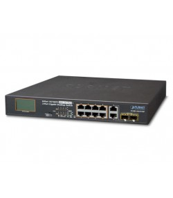 Switch PoE 8 porte 10/100 Mbps + 2 SFP combo
