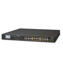 Switch Gigabit LCD PoE 24 porte 10/100/100 Mbps + 2 SFP