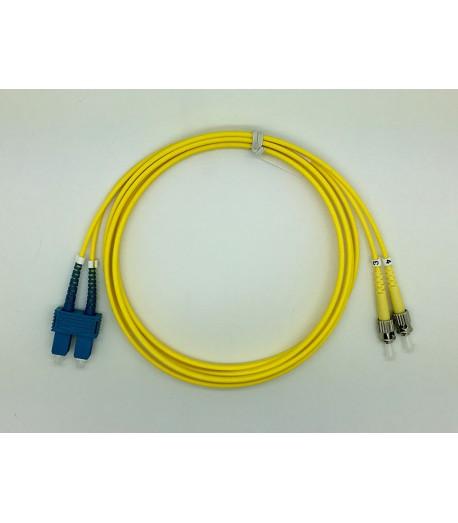 Bretella ottica ST/SC duplex SM 9/125